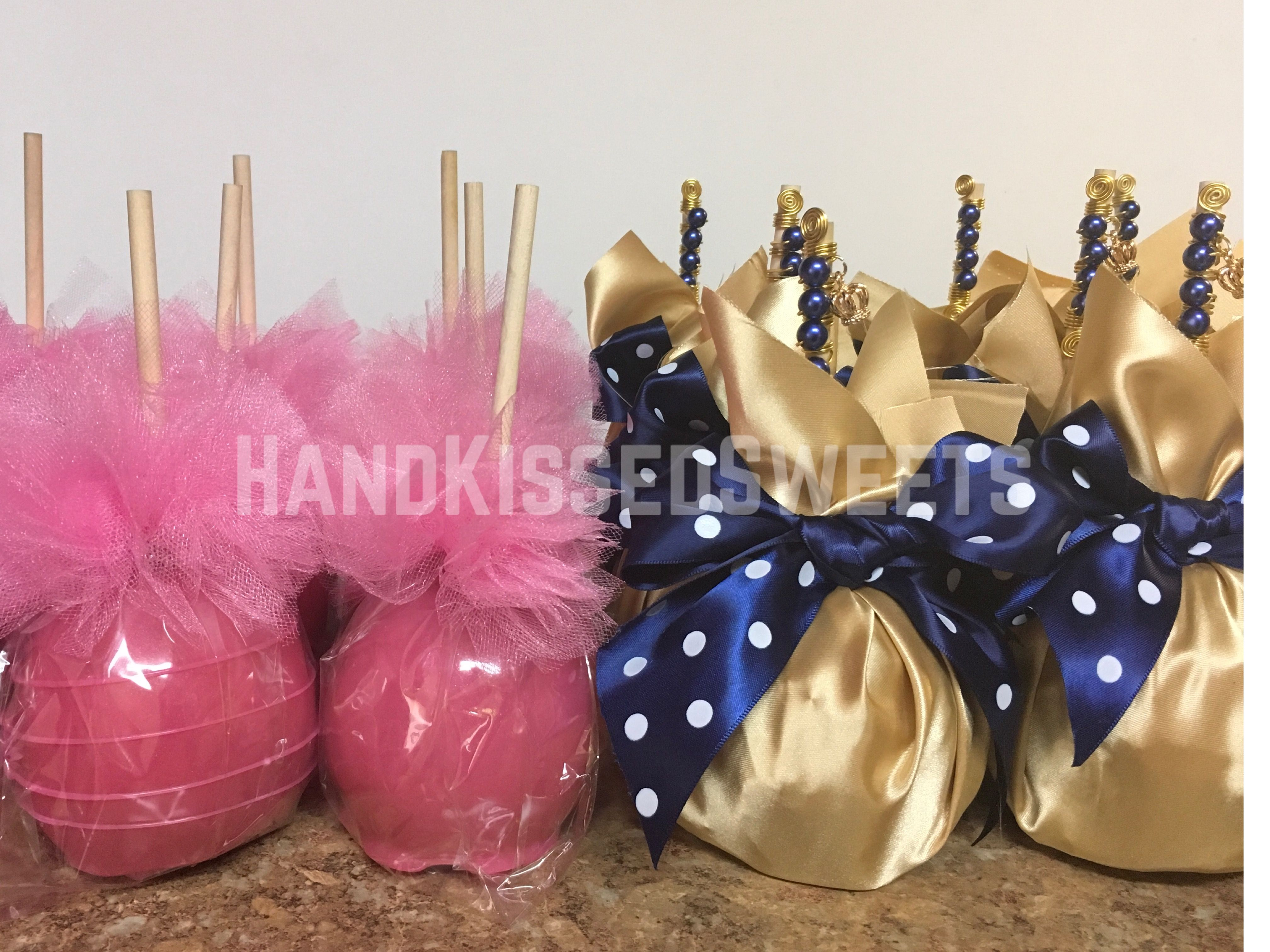 Royal Candy Apples And Tutu Candy Apples Baby Shower Candyapples