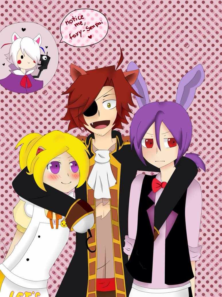 Waiter Bonnie, chica, foxy, and mangle Five nights at