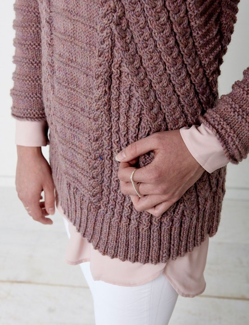 Textured Knitting Patterns : Directional cables sweater patterns yarnspirations
