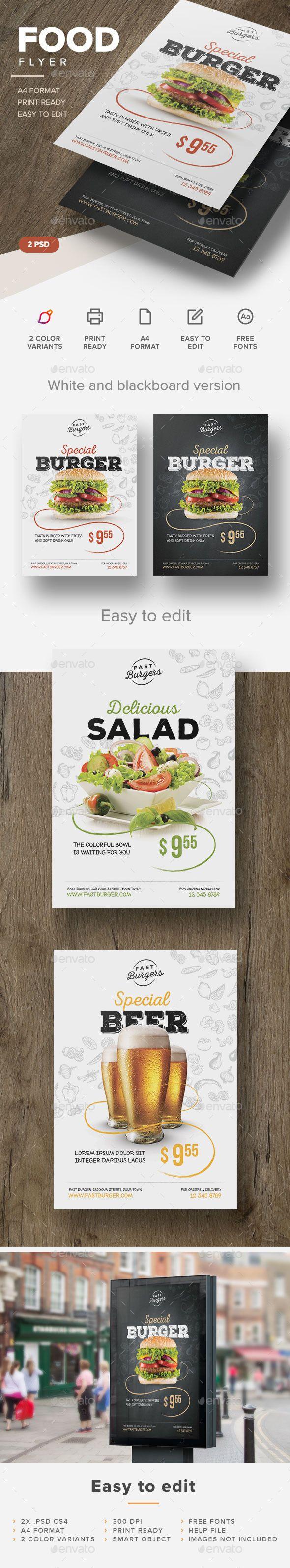 Food Flyer  Restaurants Food And Menu