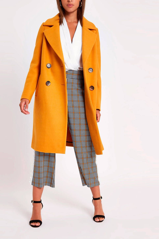 coat | Jassen, Gele jas, Oranje jas