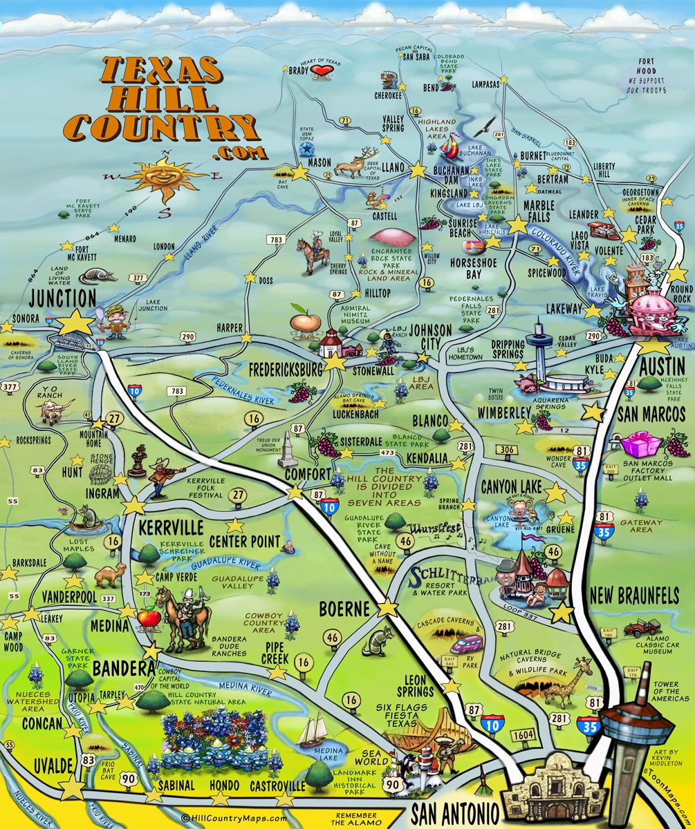 Road Trip In Hill Country Texass Best Kept Secret Roadtrippers - Road map texas usa