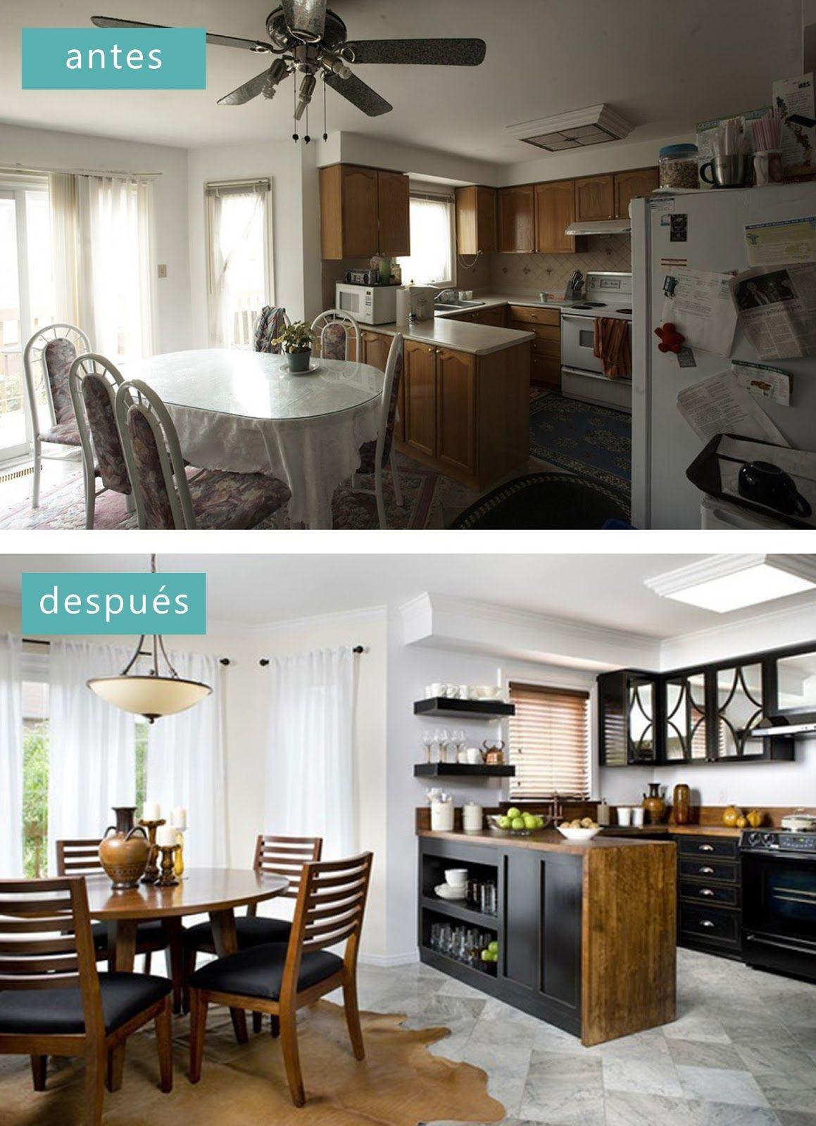 Antes y despu s los asaltacasas interior design dise o for Cocinas antes y despues