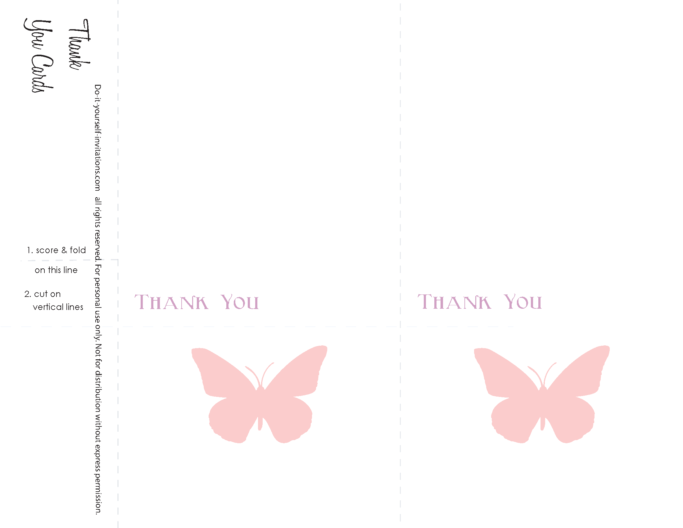 Thank You Cards. Butterfly Wedding Invitations: Peach and Lavendar ...