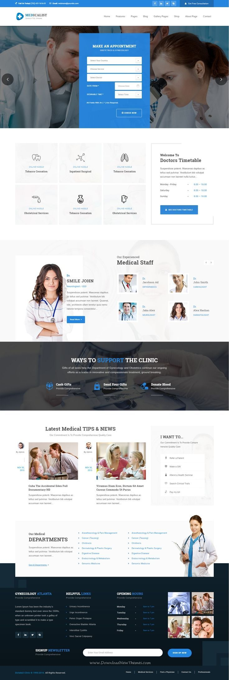 Medicalist - A Responsive HTML Bootstrap Template for Medical ...