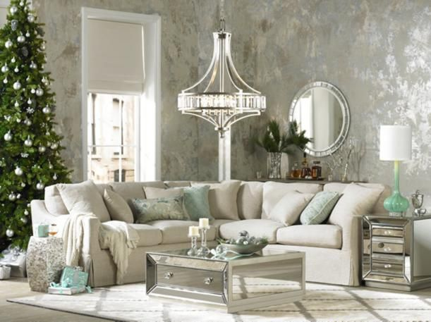 Luxury Look Living Room Mirrored Furniture Holiday Design I Drool Over Pinterest Living
