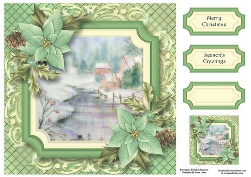 Scenic Christmas - The Frozen Stream 8x8   Gift tags ...