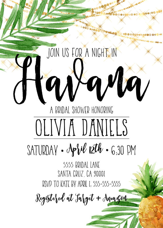 havana nights party  havana nights invitations  cuban