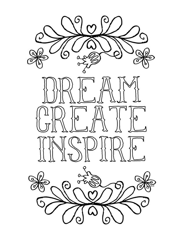 Inspirational Coloring Page | Inspirational, Creative and Adult ...