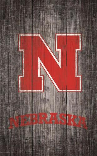 Nebraska Cornhuskers Wall Art Distressed Gray Wood Plaque Grey Wood Wood Plaques Nebraska Cornhuskers