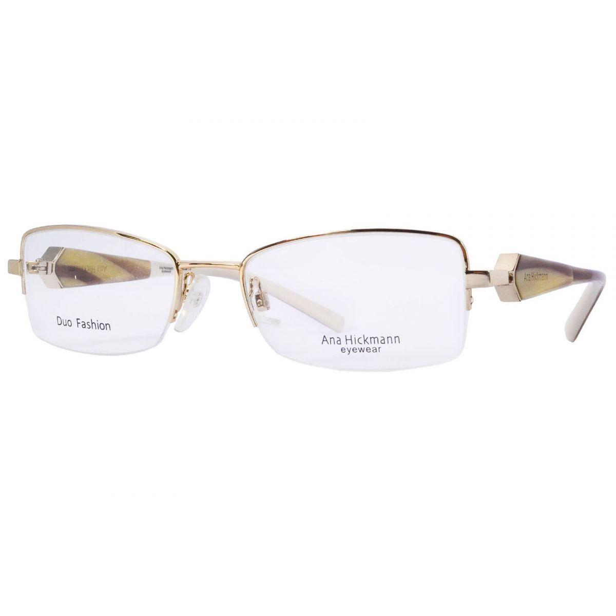 Óculos De Grau Ana Hickmann Duo Fashion AH1208 04T Tam.52