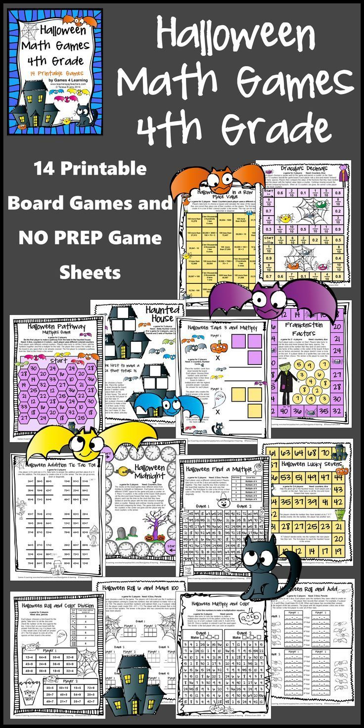 Halloween Math Games Fourth Grade: Fun Halloween Activities | Math ...