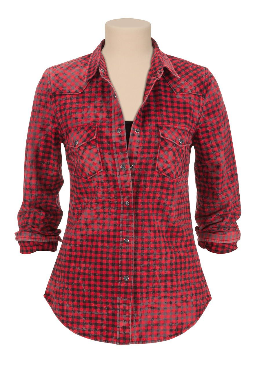 Flannel with shirt underneath  silver jeans co  button down flannel shirt  Just my style