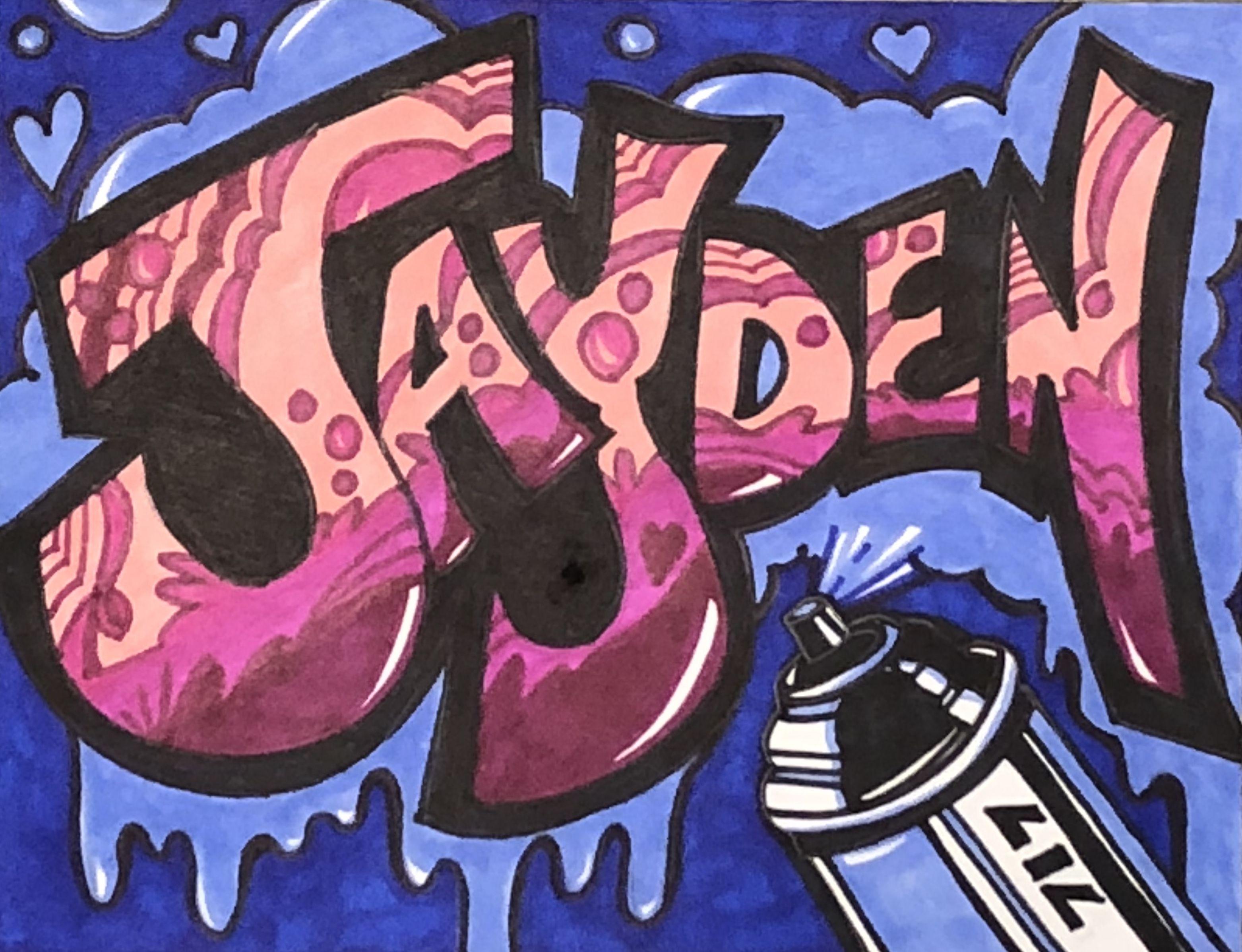 Graffiti Art Of My Daughters Name Jayden Evans Graffiti