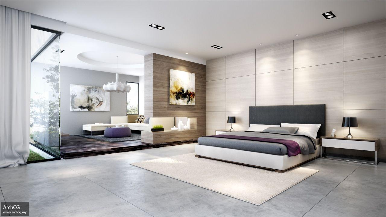Modern Bedroom Design With Big Bedroom Large Glass Wall Large