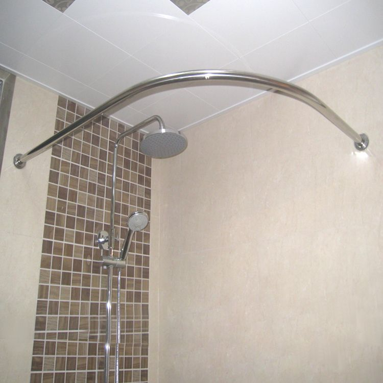Thickening 304 stainless steel curved shower curtain rod customize ...