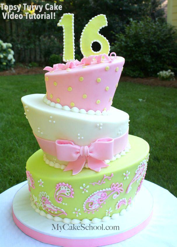 Topsy Turvy Cake Video Tutorial My Cake School Online Cake