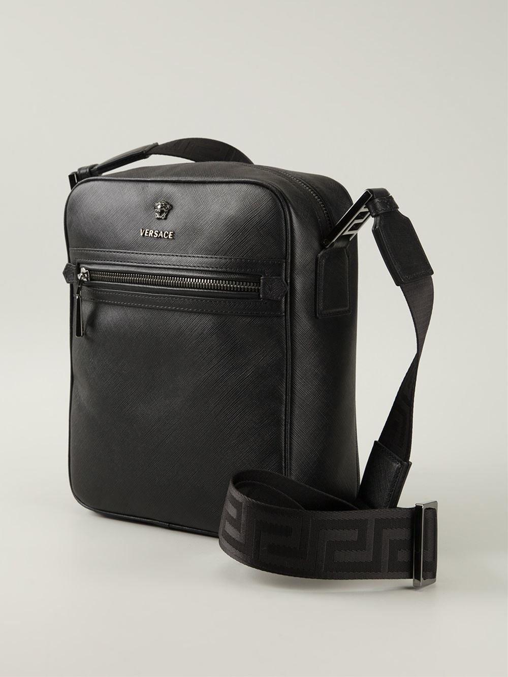 Versace Medusa Messenger Bag - Luisa Boutique - Farfetch.com  cbc751a4b5402