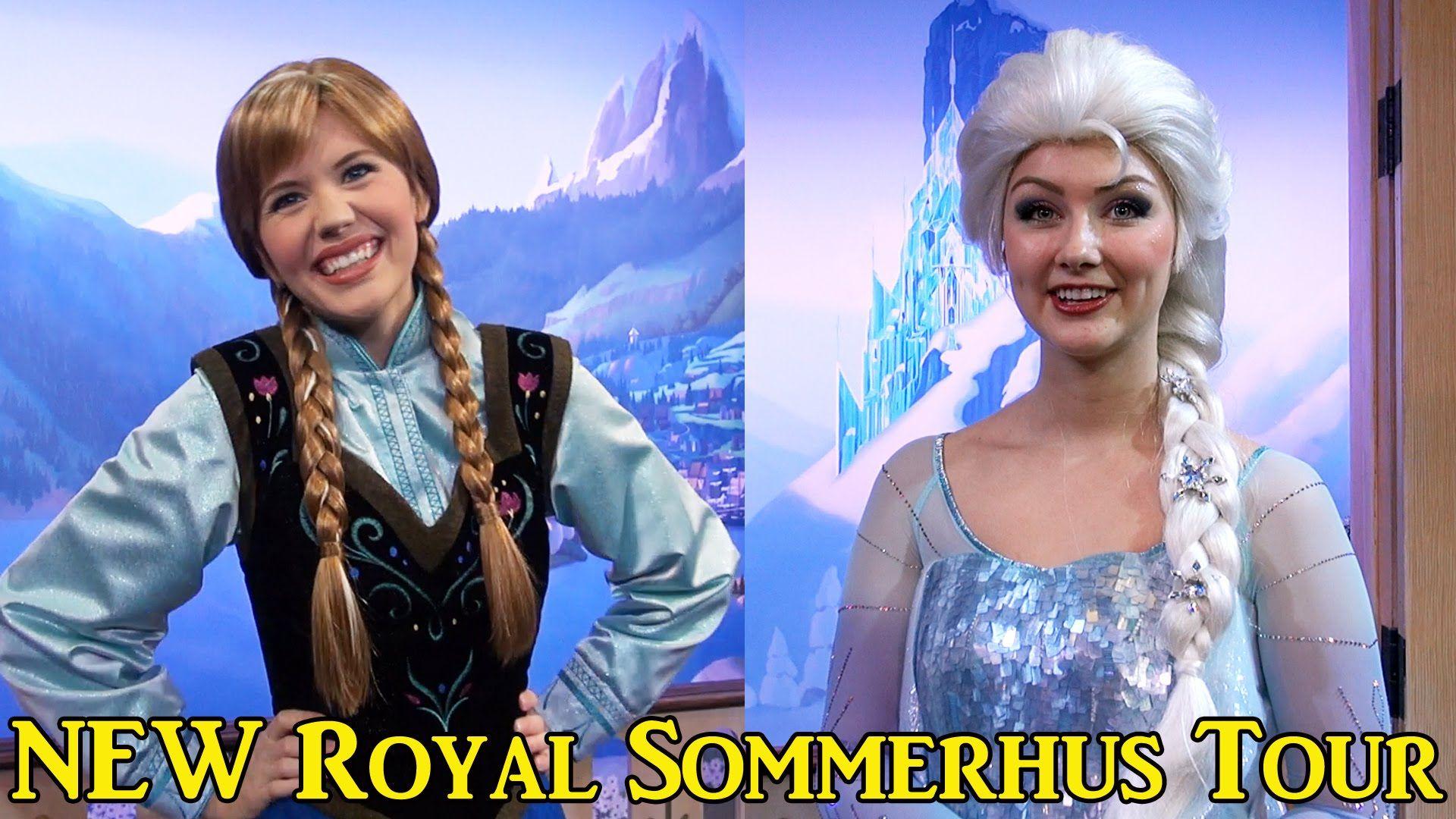 Elsa Anna Meet Greet And New Royal Summerhus Tour At Epcot