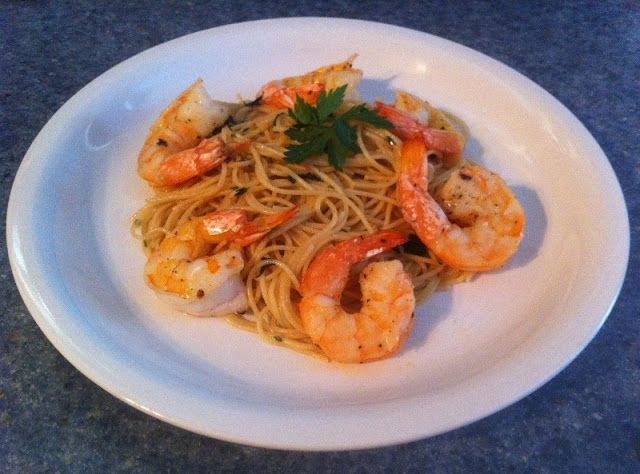 37 Cooks: Herb & Oil Angel Hair with Roasted Shrimp