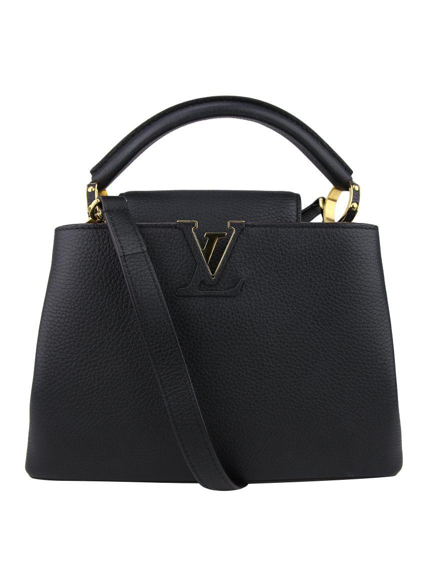 ee3e6492b Bolsa Louis Vuitton Capucines BB Preta Original - FHN1   Etiqueta Única