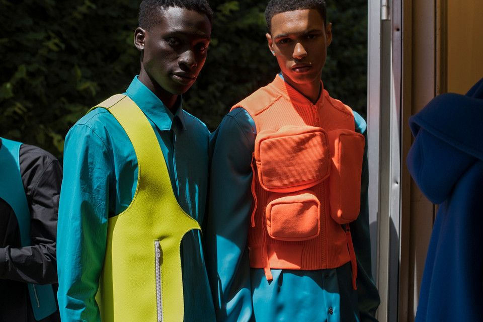c8d02e16e492 EXCLUSIVE  A Backstage Look at Virgil Abloh s Louis Vuitton Men s SS19  Collection  Featuring monochromatic looks and eccentric handbags.