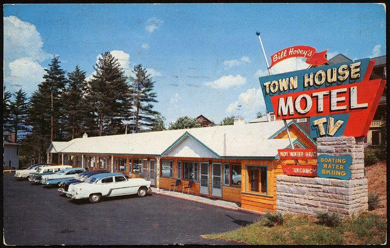Bill hoveys town house motel 1956 motel vintage