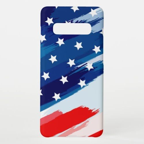 Artistic American Flag Samsung Galaxy S10+ Case