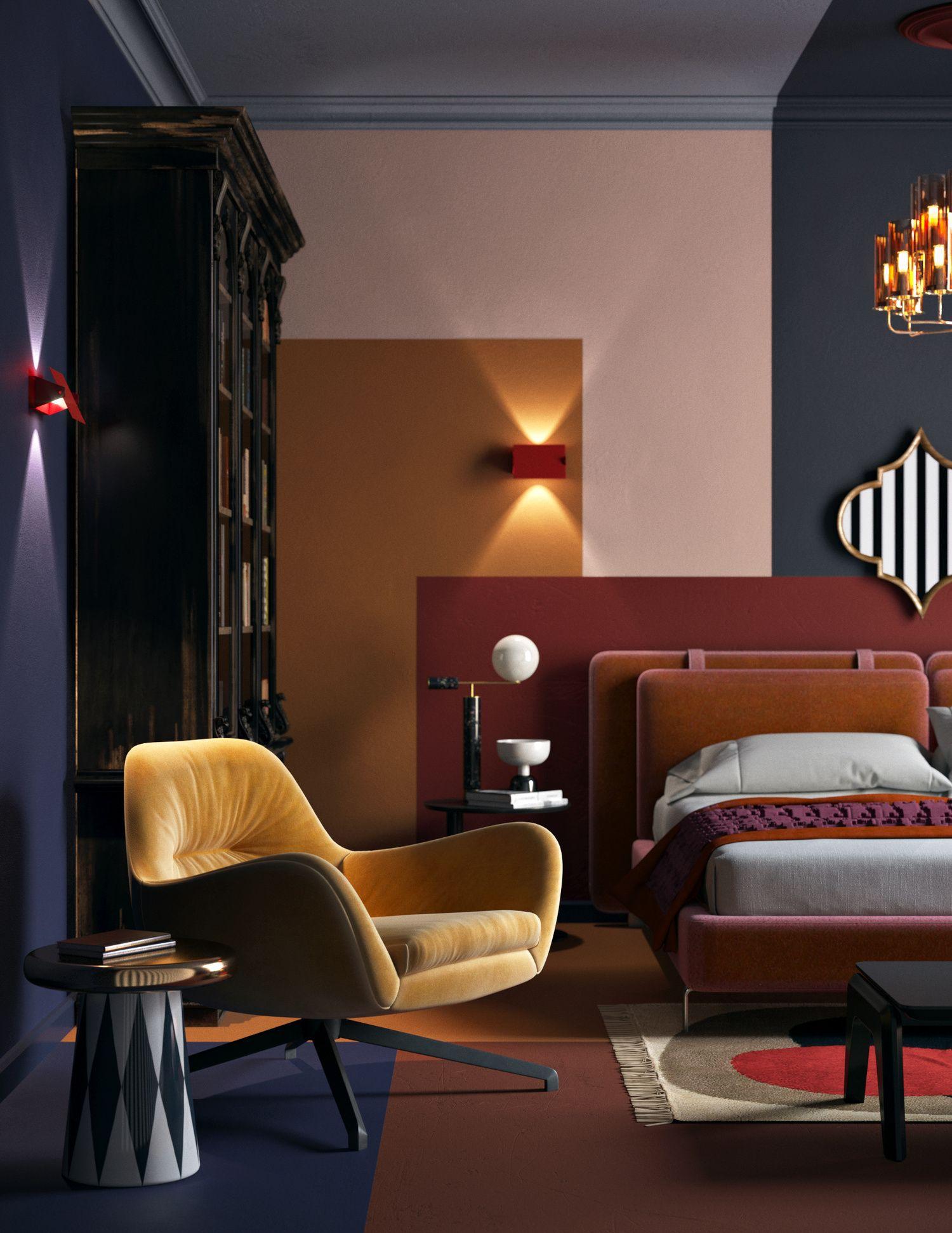 Modern interior design interior architecture luxury interior color inspiration trends 2018 home furniture couple room bedroom decor mater