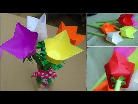 Florero para el dia de las madres manualidades de lina - Youtube manualidades de papel ...