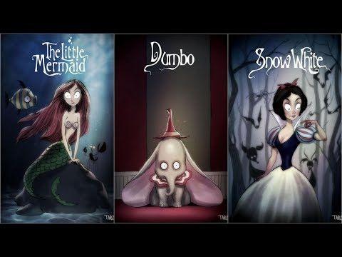 Animated Characters Tim Burton Style