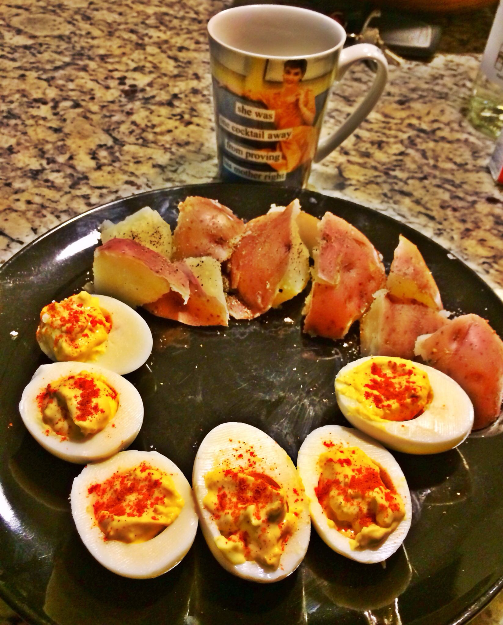 Deviled eggs with potatoes hard boiled eggs with mustard mayo deviled eggs with potatoes hard boiled eggs with mustard mayo salt pepper ccuart Choice Image