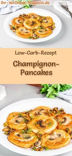 Low Carb Champignon-Pancakes - herzhaftes Pfannkuchen-Rezept #lowcarbveggies