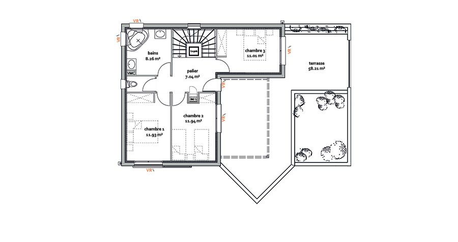 Modèle CHÔRA,maison moderne - Maison moderne - IGC Construction - modeles de maison a construire