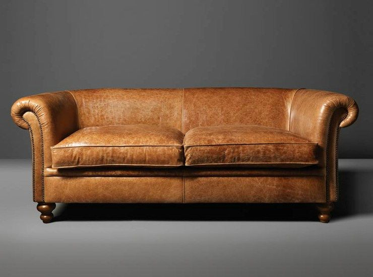Fantastic 2 Seater Tanned Leather Sofa Madison By Fleming Howland Onthecornerstone Fun Painted Chair Ideas Images Onthecornerstoneorg