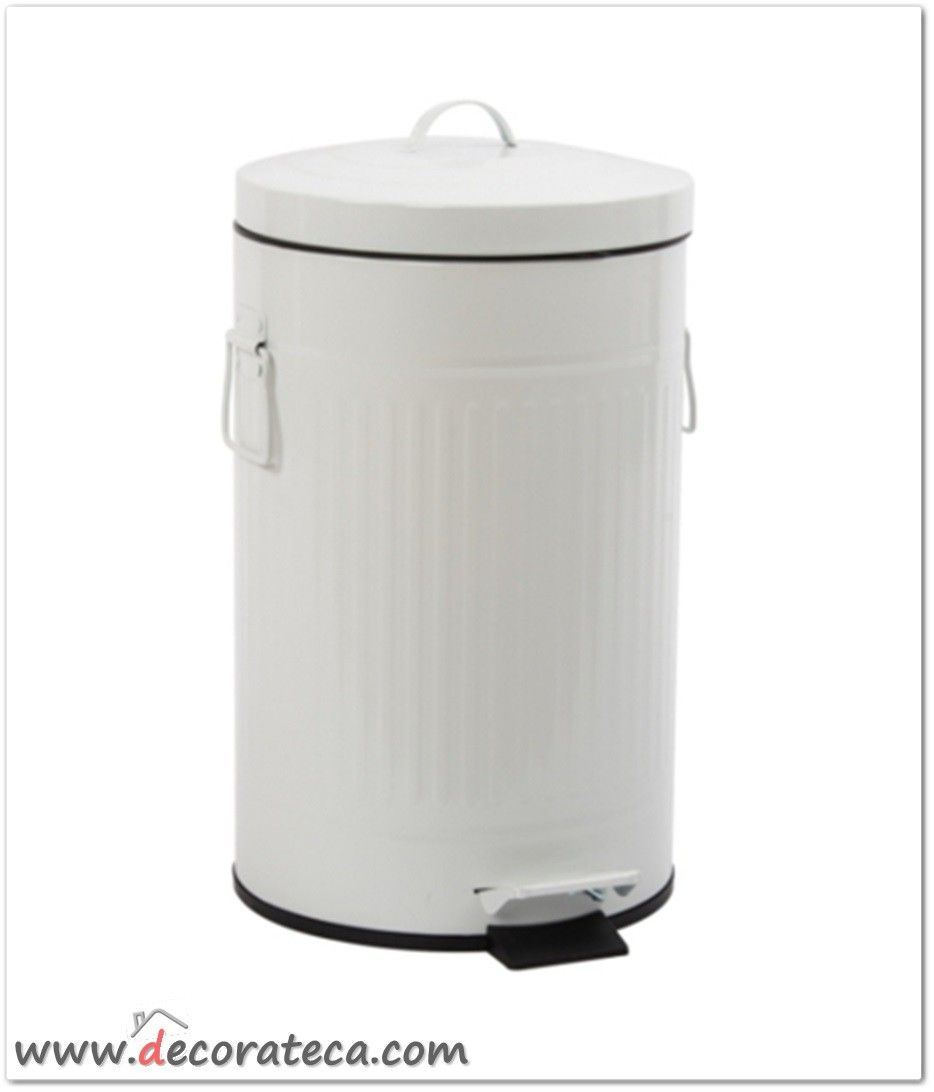 Cubo de basura urban blanco roto 12 litros cubos de basura de metal originales www - Cubos de basura originales ...