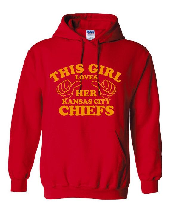 This Girl Loves Her KANSAS CITY Chiefs Great Hoodie by RegionRags