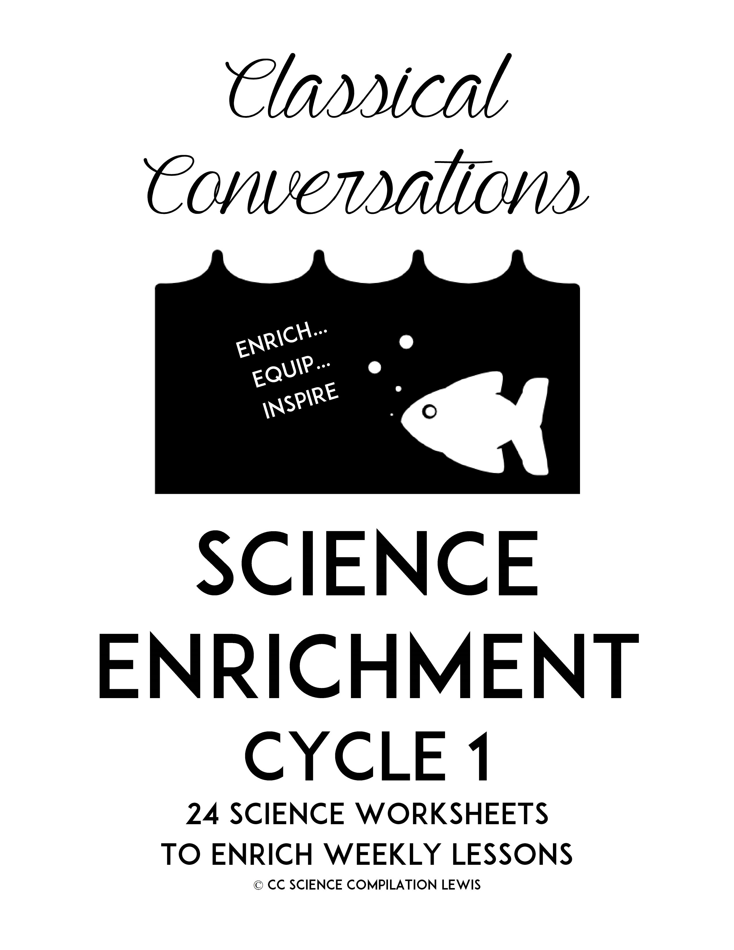 4th Edition Classical Conversation Science Worksheets With
