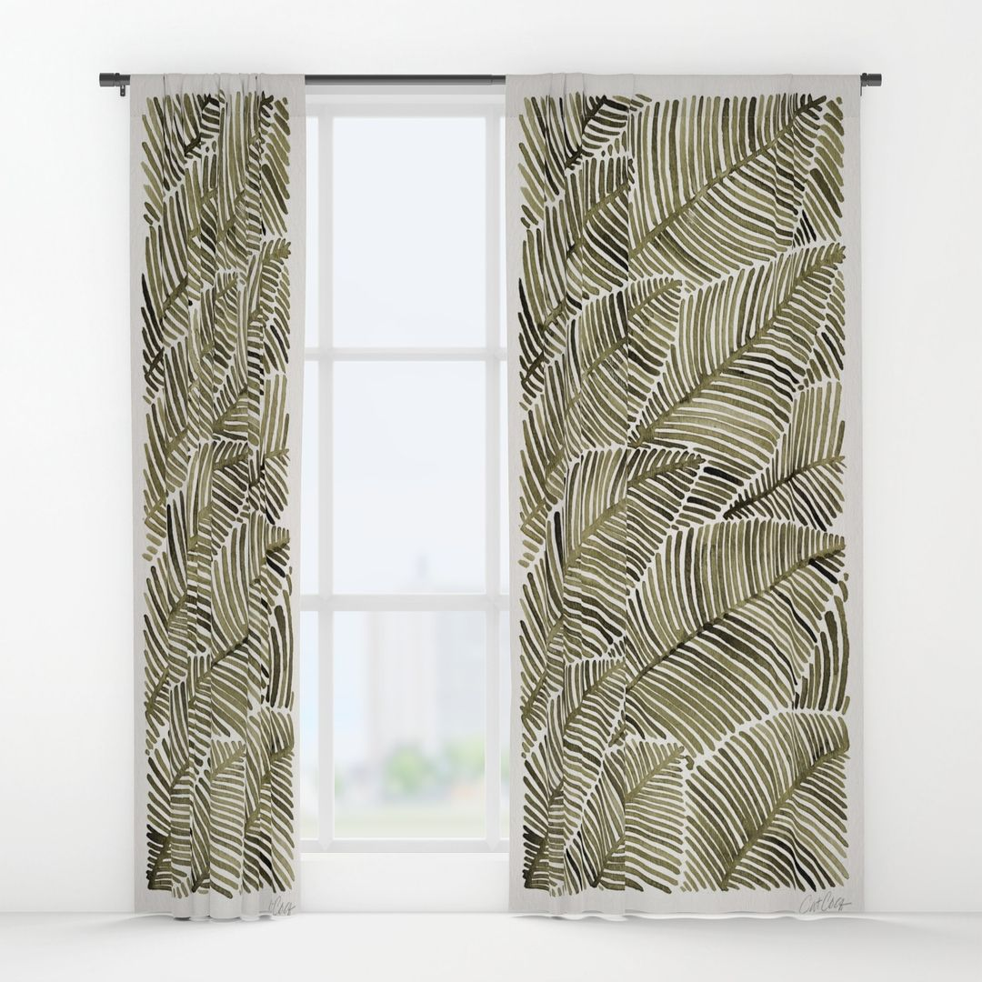 Tropical Window Art Curtains Images Best Windows - Better homes and gardens shower curtain