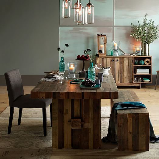 Emmerson Dining Table B:72 Inches:Reclaimed Pine