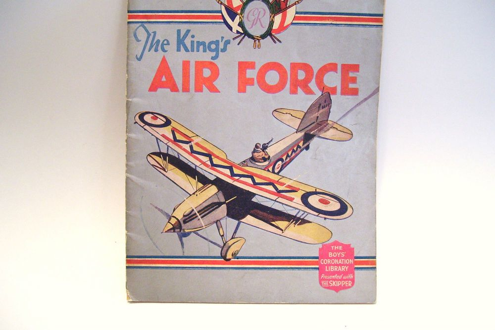 1937 Boys Coronation Library The Kings Airforce Presented with Skipper 1937 Rare