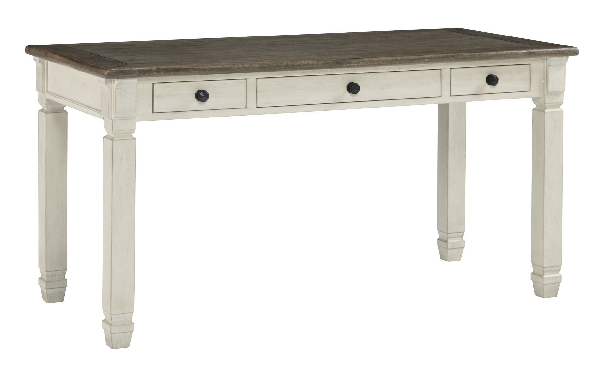 Signature Design By Ashley Bolanburg Two Tone 60 Home Office Desk H647 44 Goedekers Com Shabby Chic Living Room Furniture Shabby Chic Room Shabby Chic Decor