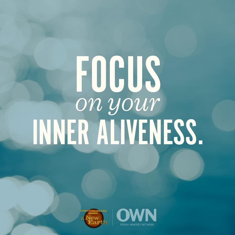 concentre-se no seu interior