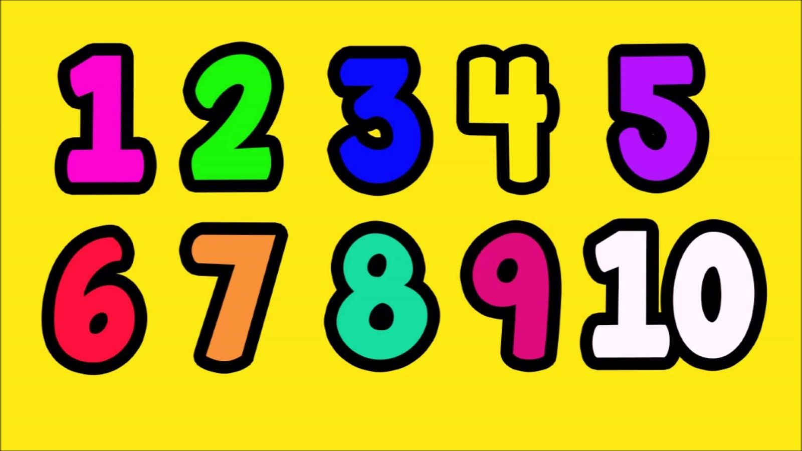 Pictures Of Number 1 10 Numbers 1 10 Learning Numbers How To Memorize Things