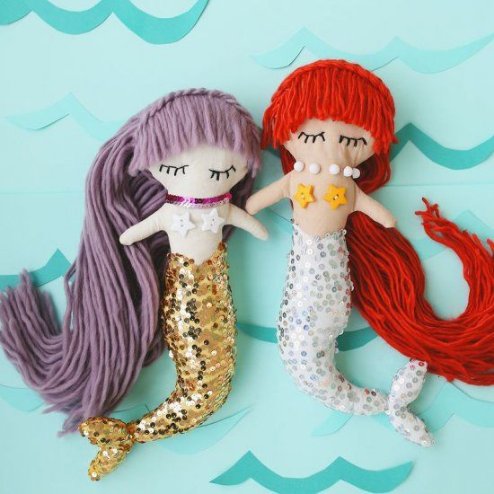Make Your Own Mermaid Doll With This Simple Tutorial