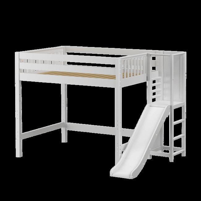 Full High Loft Bed With Slide Platform Bed With Slide Loft Bed Twin Size Loft Bed