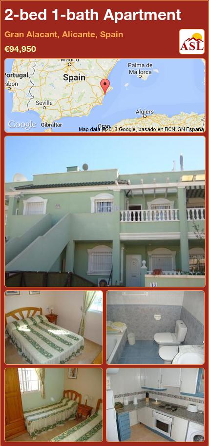 Best 2 Bed 1 Bath Apartment In Gran Alacant Alicante Spain 400 x 300