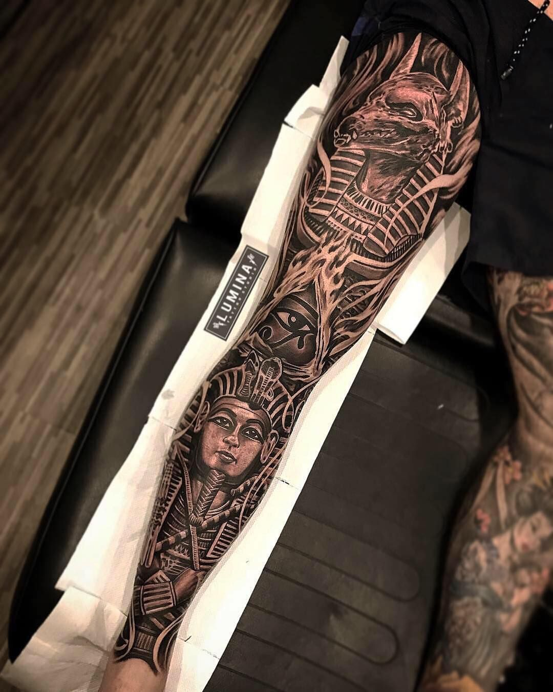 Awesome full leg done at lumina_tattoo_studio by dode