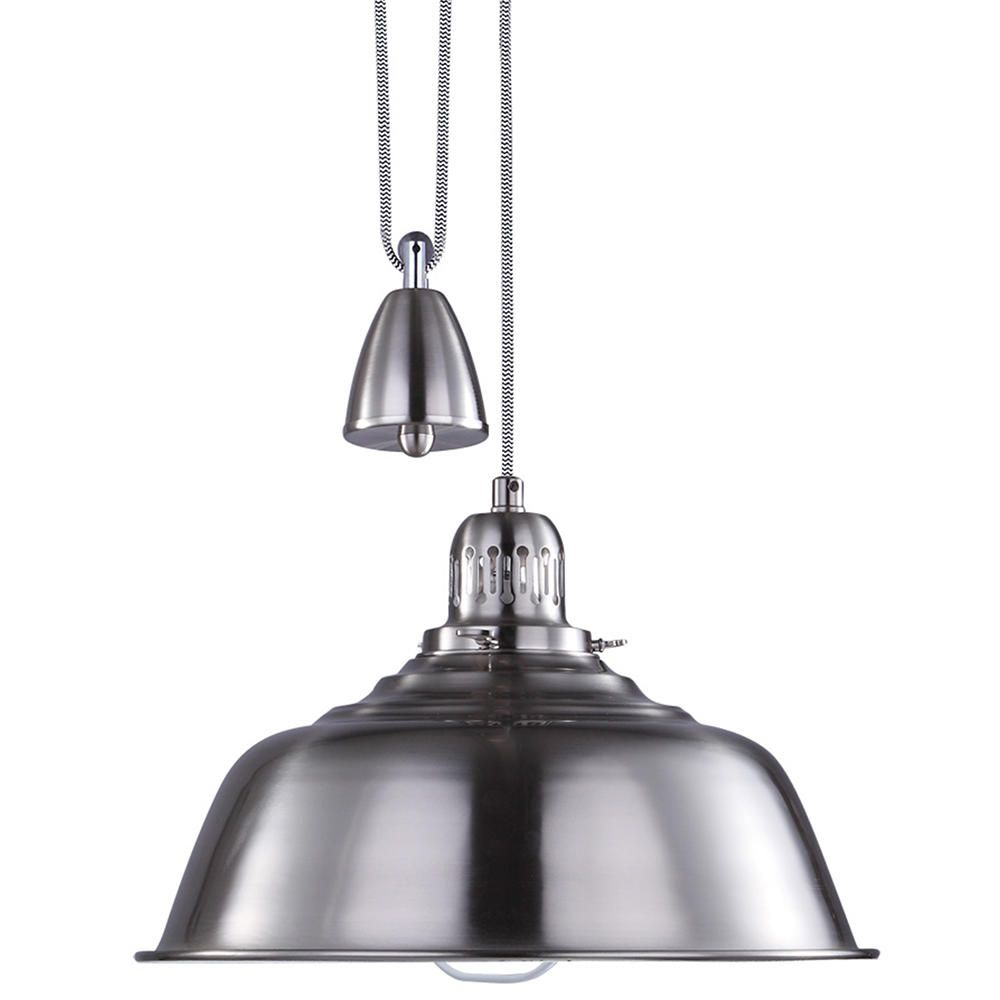 The Fisherman Rise And Fall Pendant Light In Satin