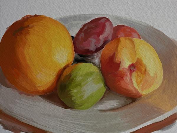 Plate of Fresh Fruit - Darren P #digitalart